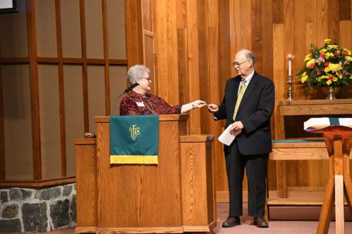 Recognition of 2018 Moderator - Diane Prevary, John Garrett